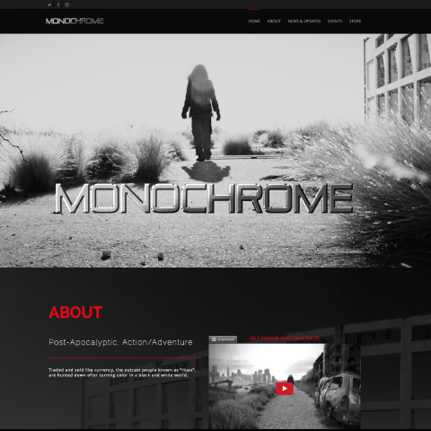 NEW MONOCHROME WEBSITE